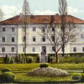 College of Agriculture and the garden in front of it, late 19th century