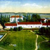 Bird's View of the College, when the stable hadn't been built
