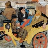 Wobbling Coach, oil on canvas, Marijan Detoni, 1935