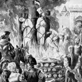 Witches burnt alive during the European Witchcraze