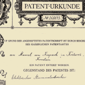 Patent letter for illumination dynamo sent by Austrian Patent Office