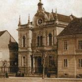 Synagougue in Strossmayer Square in  Križevci,  early 20th century