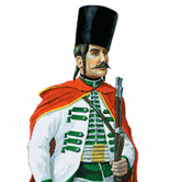 military border fontiersman from Križevci  regiment, 1760